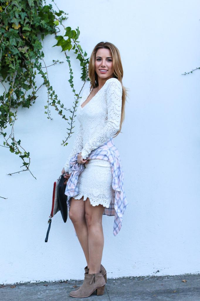 Ariana Lauren Fashion Born Blogger White Lace Dress Photography by Ryan Chua-4002
