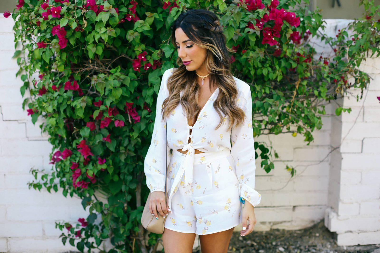 Ariana Lauren Flynn Skye Floral Romper Day Two Coachella Festival Trends-0634