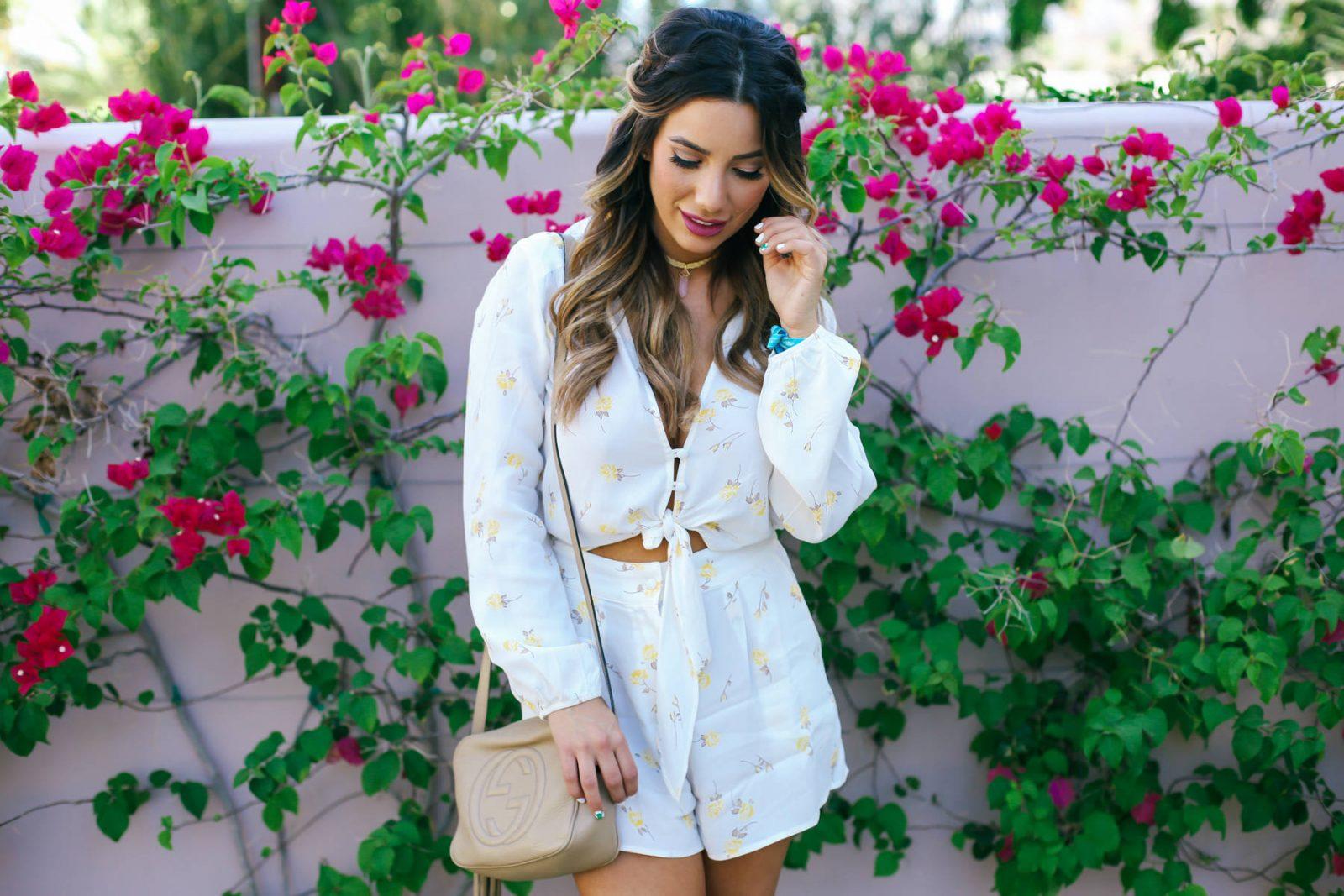 Ariana Lauren Flynn Skye Floral Romper Day Two Coachella Festival Trends-0688
