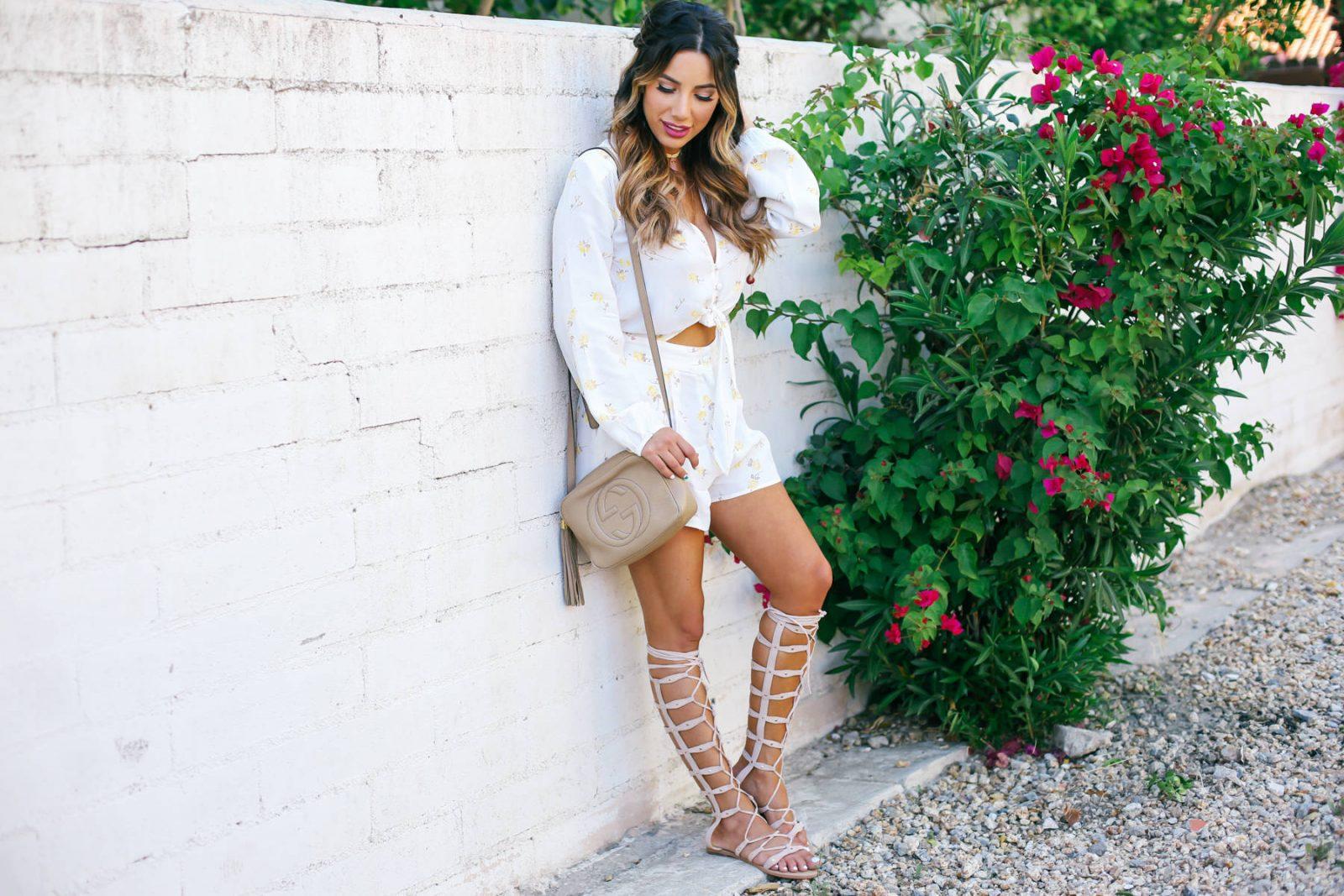 Ariana Lauren Flynn Skye Floral Romper Day Two Coachella Festival Trends-0817