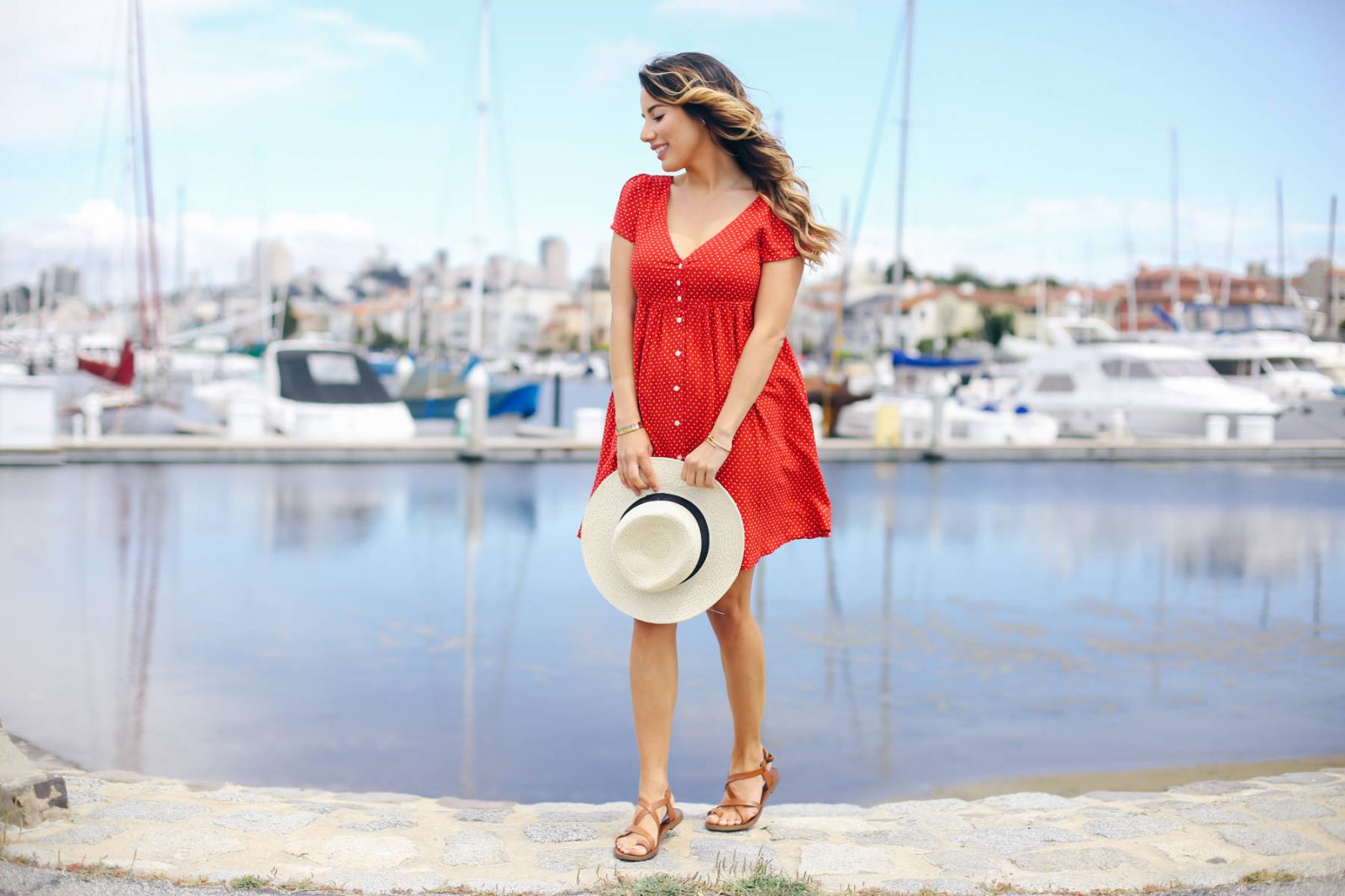 denim-jacket-red-dress-memorial-day-ariana-lauren-fashionborn-san-francisco-ryanbyryanchua-8660